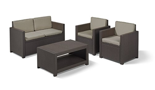 Allibert Lounge Set Monaco, Braun, 4-teilig - 2