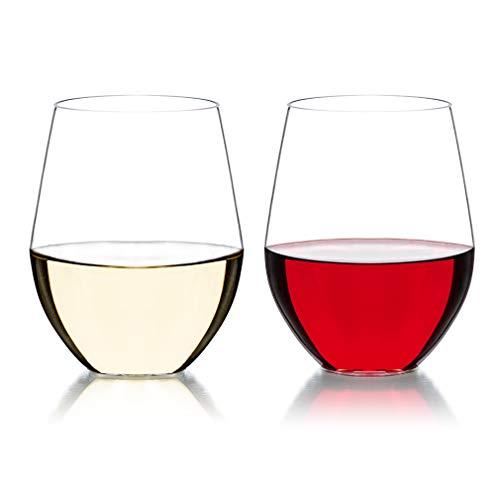 MICHLEY Unzerbrechlich Tritan-Kunststoff weinglaeser, rotwein trinkglas, gläser fur Camping Party, BPA-frei 470 ml plastik Tasse 2er Set