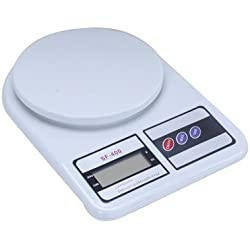 GadgetBucket Electronic Kitchen Digital Weighing Scale 10 Kg Weight Measure Liquids Flour,White