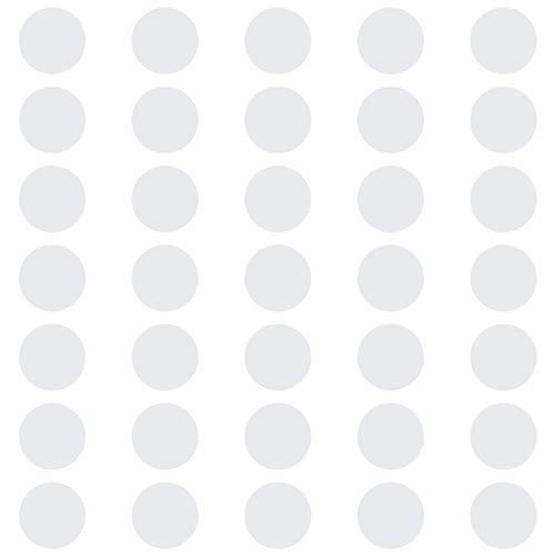 kleb-Drauf®   35 Punkte   Weiß - matt   Wandtattoo Wandaufkleber Wandsticker Aufkleber Sticker   Wohnzimmer Schlafzimmer Kinderzimmer Küche Bad   Deko Wände Glas Fenster Tür Fliese (Wand-vase Dot)