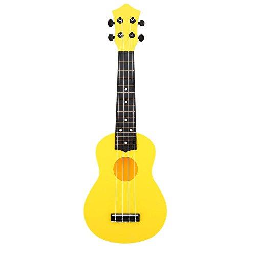 Mini Ukulele 21Zoll Instrument Musik mit 4Saiten Spielzeug Lernspiel Musical Geschenke für Anfänger Kinder gelb