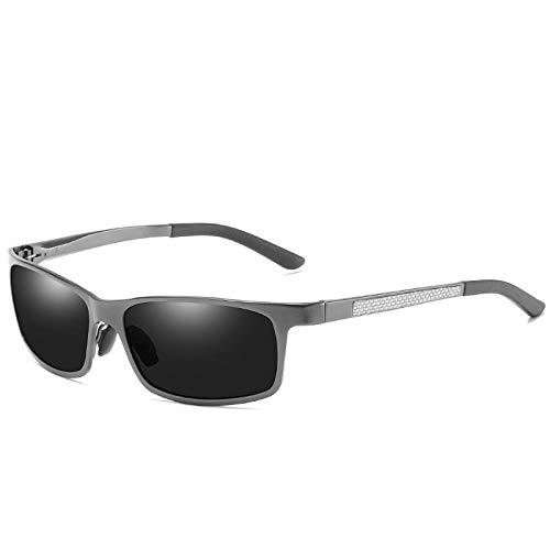 DuangBou Sportliche Sonnenbrille Schutzbrille UV-Schutz Vollmetall Reisen Angeln Erweitert verpackt Pistolenfarbe