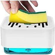 Dish Soap Dispenser for Kitchen | Soap Pump Dispenser and Sponge Holder 2 in1 | Sink Dish Washing Soap Dispens