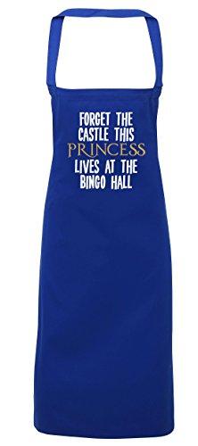 hippowarehouse vergessen die Mansion This Princess Leben an der Bingo Hall Schürze Küche Kochen Malerei DIY Einheitsgröße Erwachsene, königsblau, Einheitsgröße