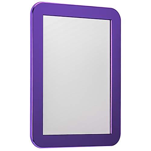 Savita 17.5×13.5cm specchio magnetico dell'armadio vestito per qualsiasi superficie metallica ideale per armadietti scolastici bagno frigorifero (viola)