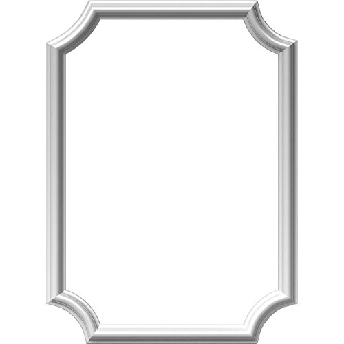Ekena PNL20X28AS-02 20-Inch Width x 28-Inch Height x 1/2-Inch Projection Ashford Moulded Scalloped Wainscot Wall Panel - Primed -