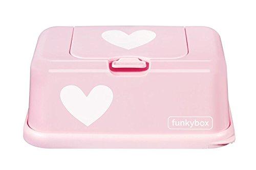 Funkybox Feuchttücher Box rosa - Herz