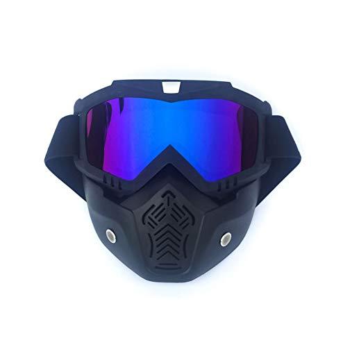 KnSam Winddicht Uv-Beständig Schutzbrille Für Brillenträger Kratzfester Scheibe Panoramablickfeld Mattschwarzes Bunt Schutzbrille