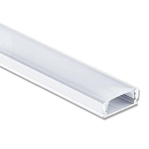 Schienen-beleuchtung (LED Profil Aluminium 2 Meter - Aluprofil für LED Stripes/Streifen Abmessung: 2000mm x 17mm x 7mm ALU Leiste (Alu Profil silber inkl. milchiger Abdeckung für LED Stripe - indirekte Beleuchtung))