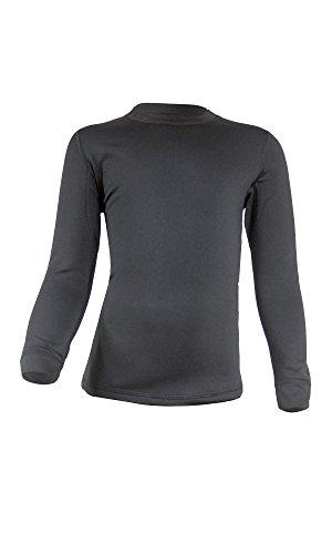 Gwinner Kinder Warmline Thermo-Funktionsunterwäsche Langarm Shirt, schwarz, 128/134