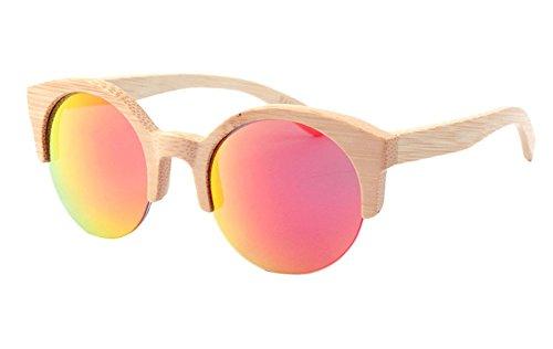 Insun Herren Sonnenbrille Gr. Einheitsgröße, Mehrfarbig - 2012-MC5 Wood Frame