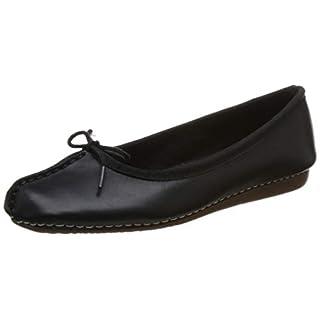 Clarks Damen Freckle Ice Mokassin, Schwarz (Black Leather), 39 EU