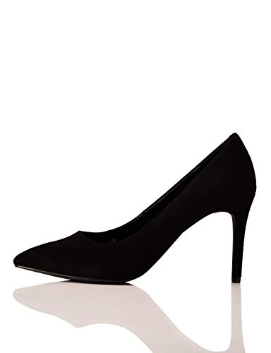 find. Wide Fit Point Court Shoe Scarpe col Tacco Punta Chiusa, Nero Black), 37 EU
