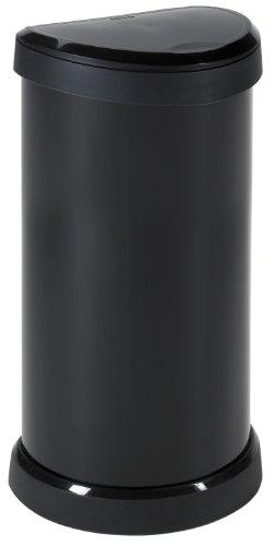 Curver 176455 Touch - Papelera (mecanismo de apertura con toque, 40 L), color negro metálico