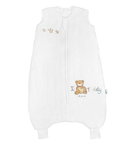 Slumbersac Bamboo Baby Sleeping Bag with Feet approx. 2.5 Tog - I Love Teddy - 12-18 months