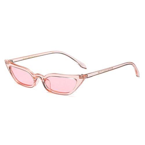 Highdas Frauen Clear Frame Spiegel Bunte weibliche Shades Sexy Cat Eye Sonnenbrille C5