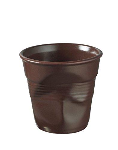 REVOL froissés Chocolate 1pc (s) Cup/Mug - Cups & Mugs (Single, 0.08 l, Chocolate, Porcelain, 1 pc (s), 60 mm)