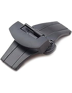 Faltschließe kompatibel Panerai Uhrenarmbänder, L316 Edelstahl, 3 Styles, neu! Größe 20 mm, Farbe Schwarz (PVD...