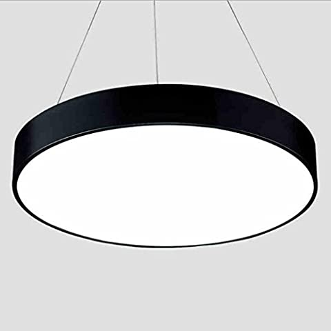 Miaoge Creative LED living room lights round warm restaurant lights simple bedroom lights personality chandeliers European lamps chandeliers white 58cm 96W