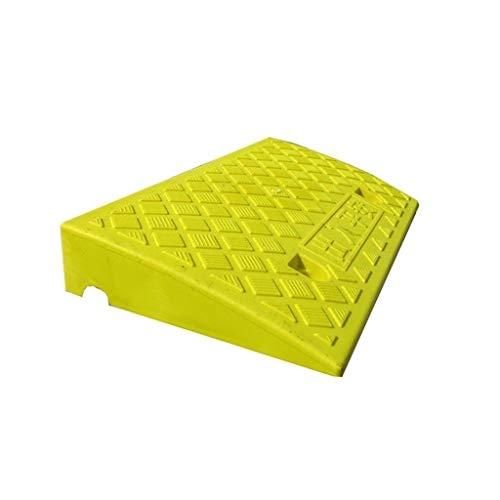XUZgag 7CM biciclette Passaggio Pad, antiscivolo Servizio portatile rampe di plastica Soglia durevole Pad pneumatici di protezione Pad Slope Antiscivolo ( Color : Yellow , Size : 50*27*7CM )