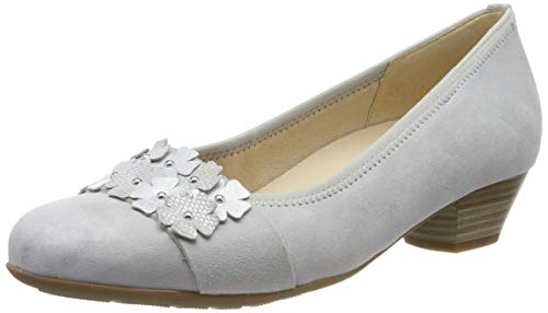 Gabor Shoes Damen Comfort Basic Pumps Grau (Light Grey/Silber 40) 39 EU -