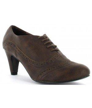 Chaussure Bas Prix - escarpins femme marron - JW520-4 Marron