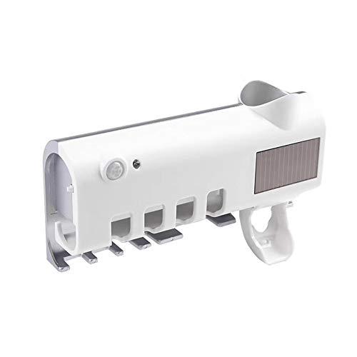 LRUIJIE 1,2 watt UV Solar Zahnbürste Zahnpastaspender Bad-Accessoires Sterilisator Zahnbürste Rack Wand Zahnbürstenhalter