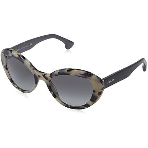 Prada - Gafas de sol Ovaladas PR 15QS Portrait, KAD3M1, White Havana, Grey Gradient