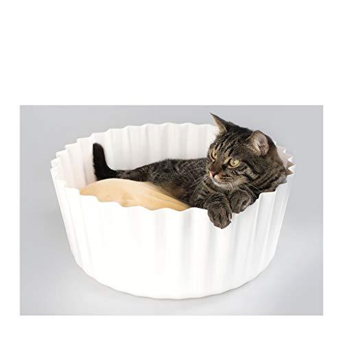 JXLBB Kreative Eierkuchen Katzenstreu Katzenbett Katzenstreu vier Jahreszeiten -