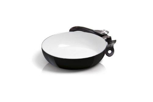 Bialetti, Padella wok con rivestimento in ceramica e manico pieghevole, Multicolore (Mehrfarbig), 24...