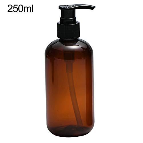 jiyoujianzhu Reise-Kosmetikbehälter - 250/500 ml - klare Presspumpe leere Flasche nachfüllbar Shampoo Flüssigseife Spender -