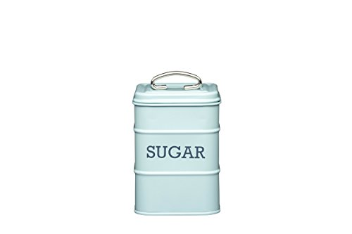 This elegant sugar tin is inspired by vintage style and practicality. It's the sweetest way to smarten up your kitchen worktop;Made of robust steel, and printed with the word 'SUGAR' so you always know what's inside;Neat square footprint maximises co...