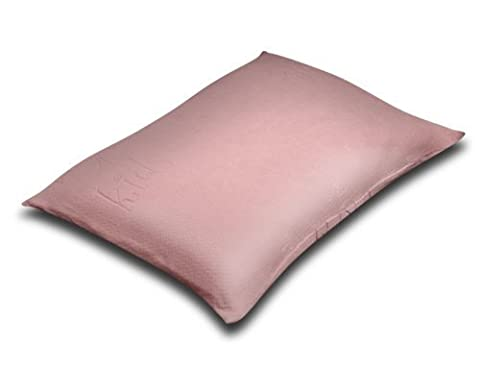 Silver Rest Sleep Shop 25-Inch by 19-Inch Kids Memory Foam Chip Pillow, Pink by Silver Rest