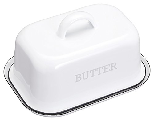 kitchencraft-living-nostalgia-vintage-style-enamel-butter-dish-with-lid-white-grey