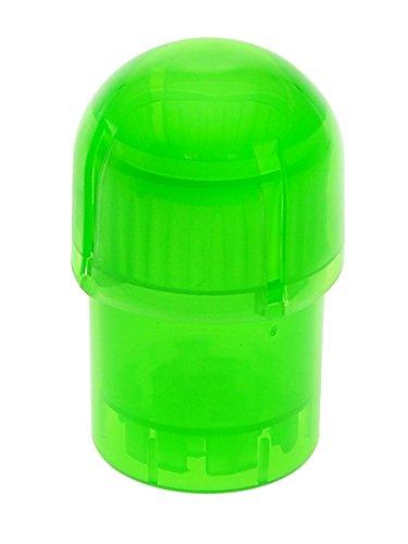 Tightvac Set: Grüner Acrylgrinder mit Vorratsbehälter - 3 Teile, 5 cm Durchmesser - head&nature Smoke Shop - Acryl Grinder