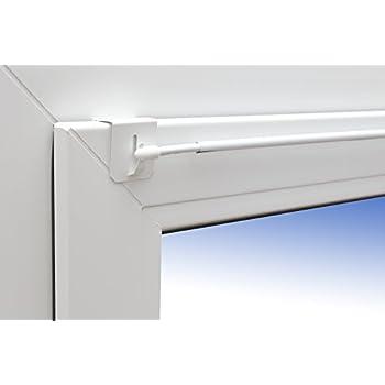 gardinenstange basic fix klick 75 110cm ausziehbar wei klemmstange spannfix universal. Black Bedroom Furniture Sets. Home Design Ideas