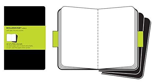Moleskine Set de 3 cahiers pages blanches Très grand format Couverture souple 19 x 25 cm Noir