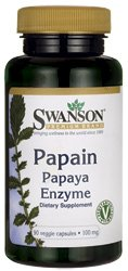 Swanson Papain Papaya Enzyme (100mg, 90 Vegetarian Capsules) from Swanson Health Products