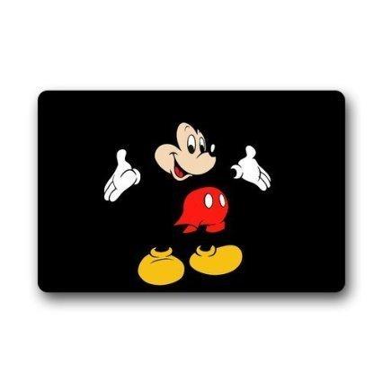 Custom Disney Cartoon Mickey Mouse Maschinenwaschbar Top Stoff & rutschfeste Rückseite aus Gummi innen Outdoor Home Office Badezimmer Welcome Fußmatte 23,6 (Mouse Mickey Gummi)