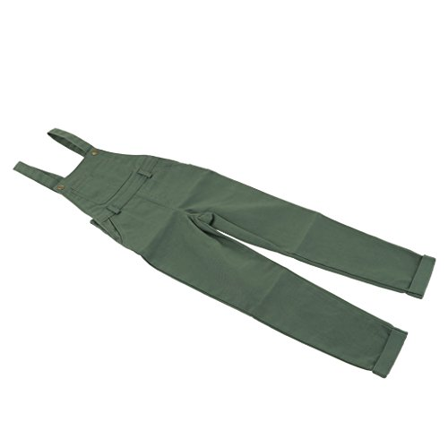 Phenovo 1/3 Male BJD Fahsion Suspender Trousers Pants for 70cm Uncle Doll - Army Green, as described