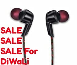 iball musifit Earphones with mic In-Ear Headset / / Remote for Ios Android Smartphone Tablets Devices By Prithvi