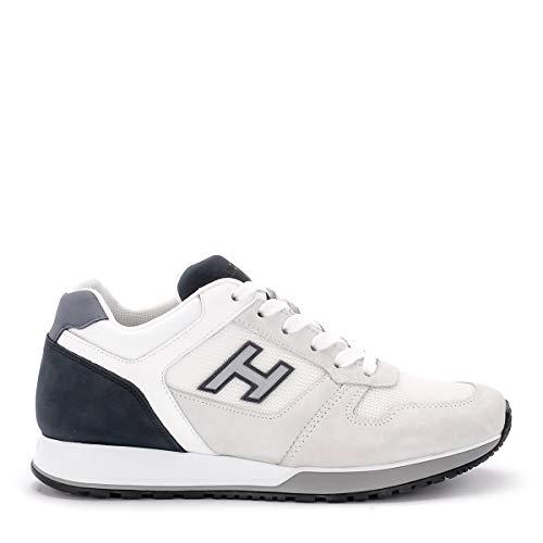 Hogan Sneaker H321 in Suede Bianca E Blu, Taglia UK: 8œ
