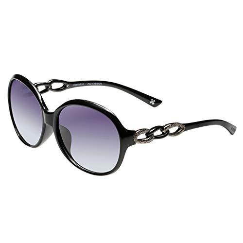 BAIJJ Sonnenbrille Dame rundes Gesicht großen Rahmen
