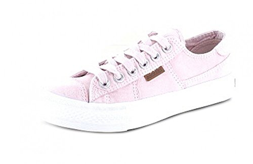 Dockers By Gerli 40th201-790765, Baskets Basses Pour Femmes Rose (pink / Weiss 765)