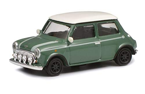 Schuco 452639200 452639200-Mini Cooper, 1:87, Modellauto, Modellfahrzeug, grün/weiß (Cooper Modell Maßstab Mini Im)
