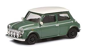 Schuco 452639200 452639200-Mini Cooper - Maqueta de Coche (Escala 1:87), Color Verde y Blanco