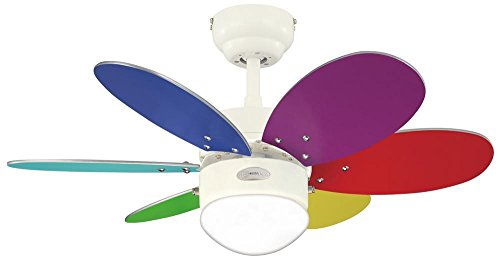 31HFnFhaDZL - Westinghouse Ceiling Fans 78673 Turbo II One-Light 76 cm Six-Blade Indoor Ceiling Fan, White Finish with Opal Frosted…