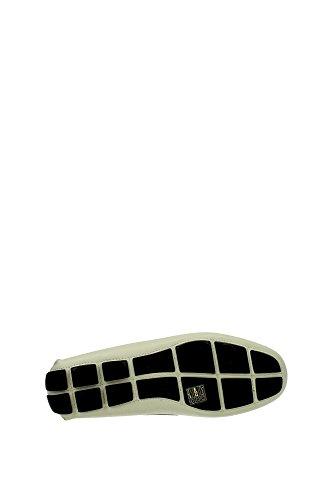 2DD001TALCO Prada Mocassins Homme Cuir Blanc Blanc