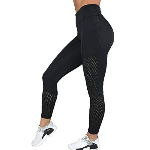 Sonnena 2019 Sommer Damen Yoga Leggings Sporthose, 3D-Druck Gym Dünne Hosen, Mesh Muster Print Fitness Leggings, Hohe Taille Sport Workout Leggins, Jogging Elastische Dünne (Lederhosen Kostüm Muster)