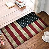 Familie Decor Fußmatte für Eingang, Sich Indoor-/Badezimmer/Front Tür Fußmatte Teppiche Gummi Rutschfeste Wasserdichter absorbieren Küche Läufer Teppich, Retro American Flag 32x20 inch Retro-Flagge